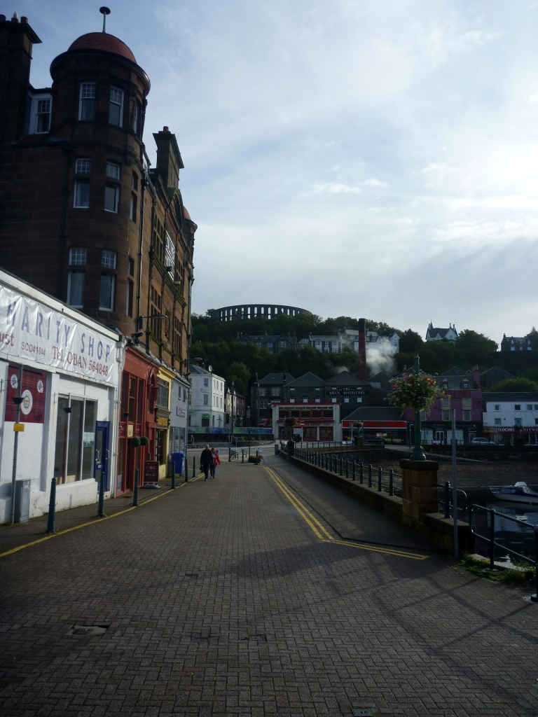 Looking up the hill towards distillery