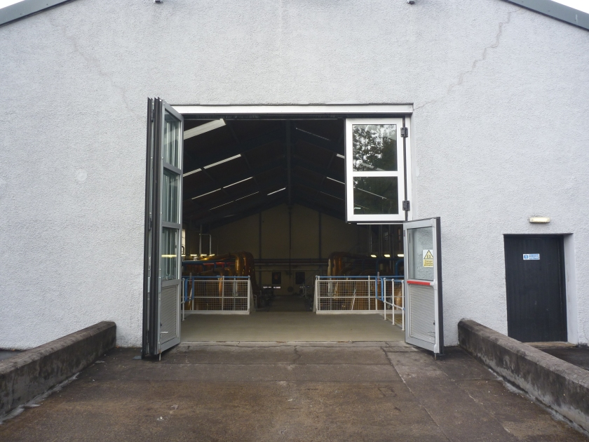 Entrance to one of the still buildings