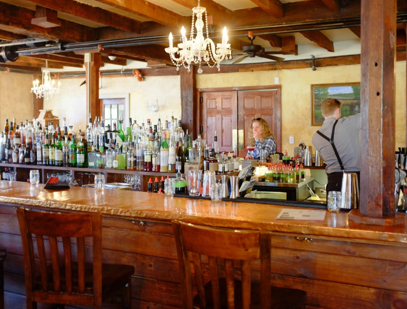 The bar at the Tut Hill Restaurant