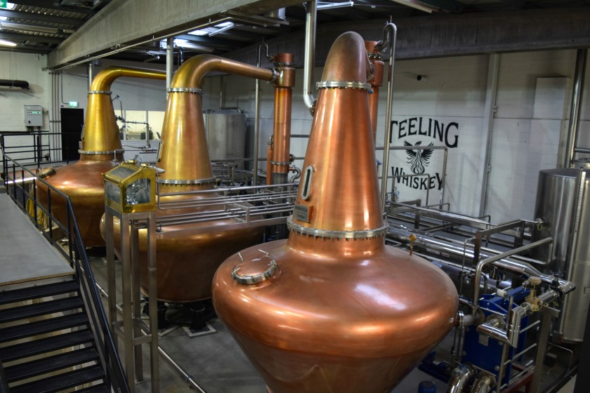 Wash, Intermediate & Spirit stills at Teeling Distillery