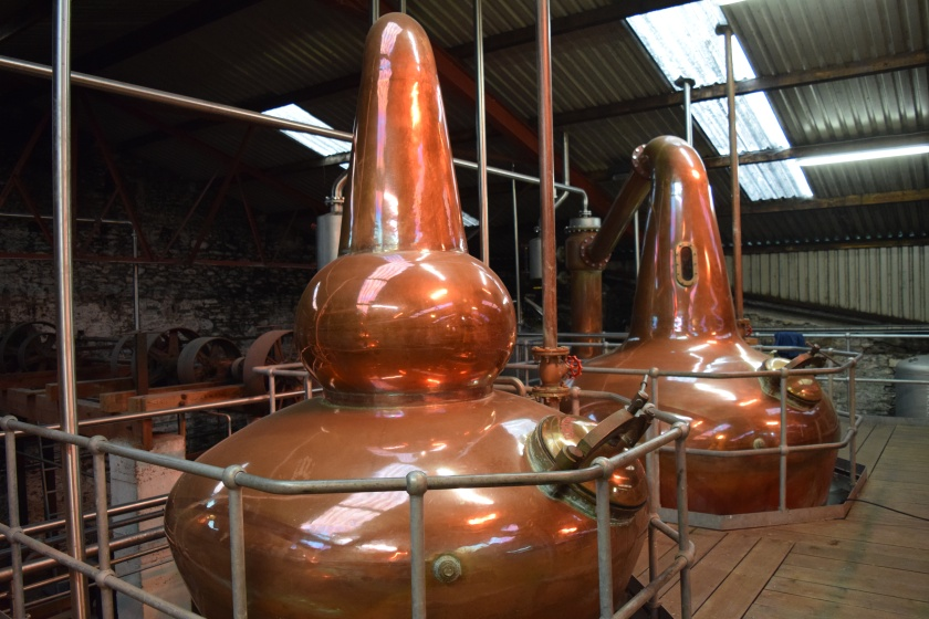 Nice copper stills, only the wash and intermediate stills were running on our day